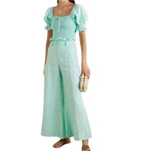 FAITHFULL The Brand Rose cropped linen pants 4